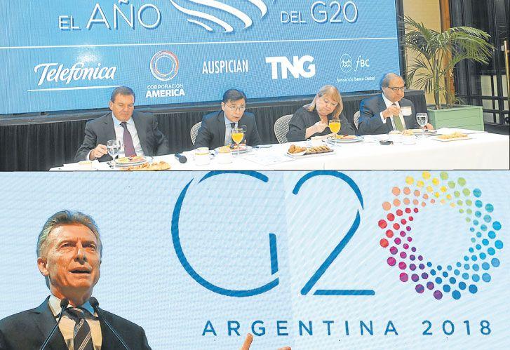 Camino al G20, de la revista 'Noticias', con la ex canciller Susana Malcorra como oradora, y Macri al asumir la presidencia argentina del G20 en el CCK.