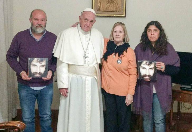 El Papa Francisco recibió a la familia Maldonado