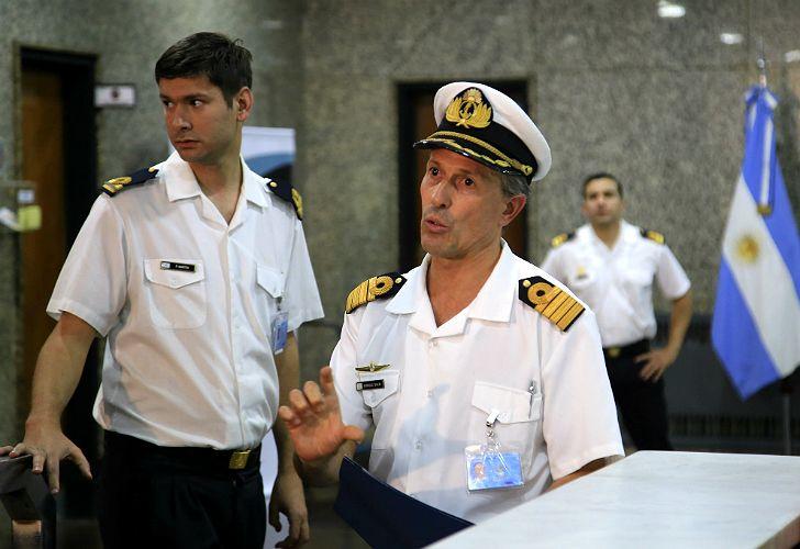 Enrique Balbi, vocero de la Armada Argentina.