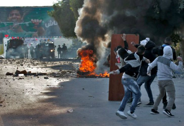 Hay enfrentamientos en varias ciudades palestinas.