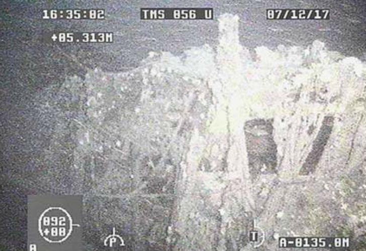 La Armada Argentina difundió una foto y un video de la zona donde buscan al submarino ARA San Juan.