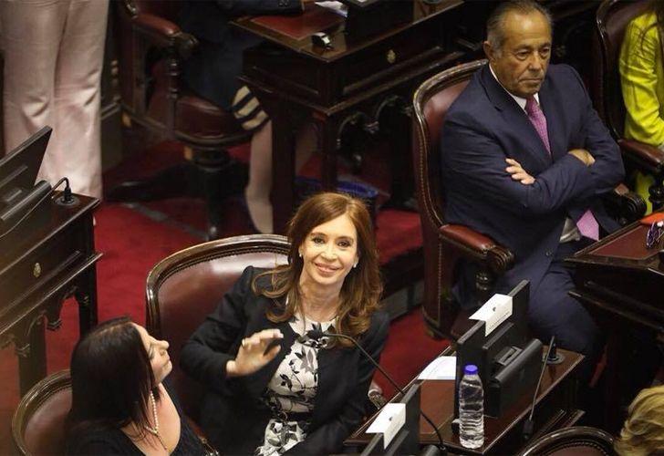 Cristina Fernández de Kirchner en el Senado