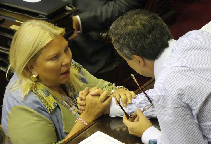 Elisa Carrió en la Cámara de Diputados