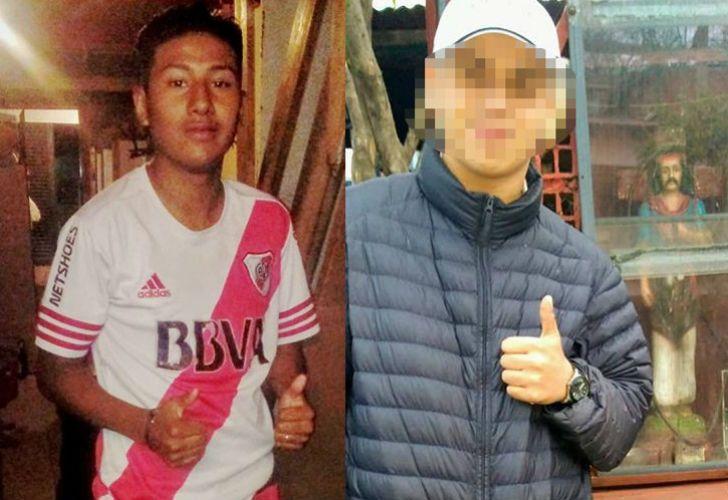 Pablo Kukoc (izq.), el ladrón que murió después del ataque contra el turista, y J.P., el cómplice menor de edad que supuestamente lo acompañaba.