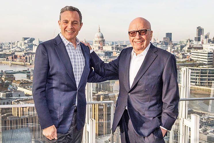 Negocio. El jueves 14, Bob Iger oficializó la compra de 21st Century Fox a Rupert Murdoch por US$ 52,4 mil millones, en Londres.