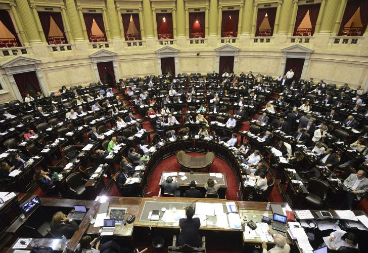 El Congreso durante el debate por la reforma previsional