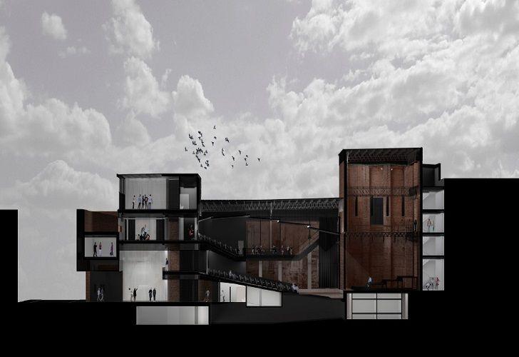 EL COMEDIA. En 12 meses el teatro municipal subirá nuevamente el telón. En imagen, la maqueta de como será su nueva estructura.