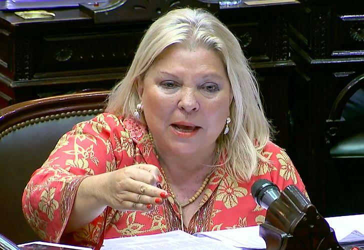 Elisa Carrió lanzó duras acusaciones durante su exposición en el debate.