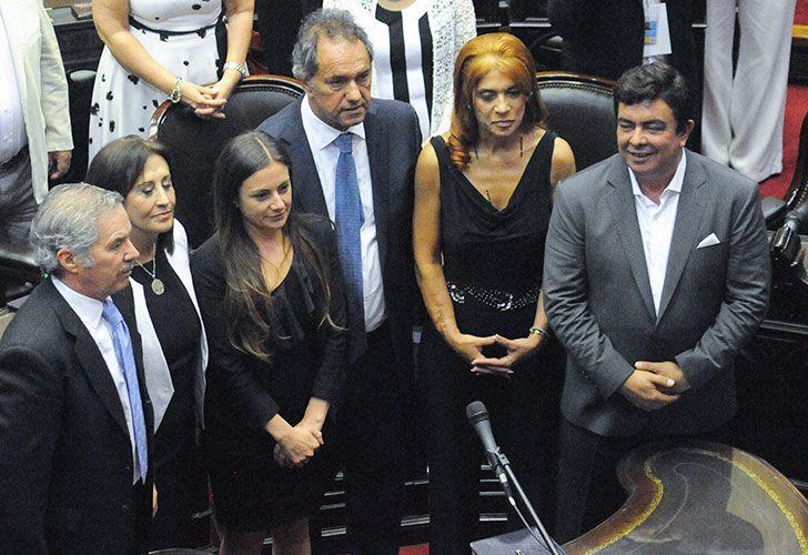 Daniel Scioli, Felipe Sola, Ferando Espinosa, juran hoy como diputado nacional, en la Sesión Preparatoria desarrollada en el recinto de la cámara baja del Congreso de la Nación