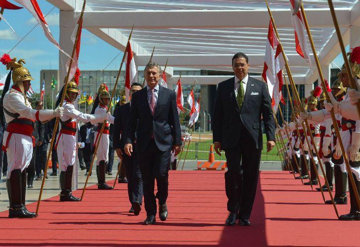 El presidente Mauricio Macri viajó a Brasil para participar de la cumbre del Mercosur.