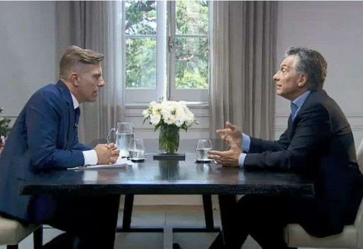 El presidente Mauricio Macri fue entrevistado por Alejandro Fantino.