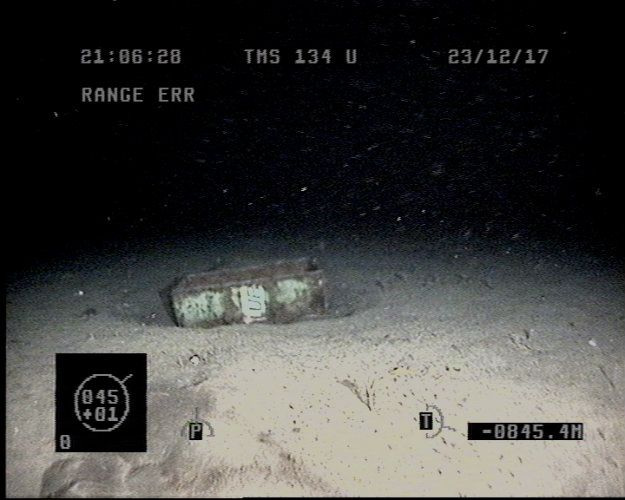 La imagen que muestra el hallazgo de un barril