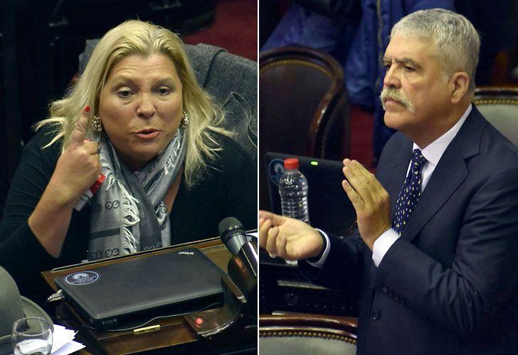 Elisa Carrió y Julio De Vido, separados por la política y unidos por la fecha de cumpleaños.
