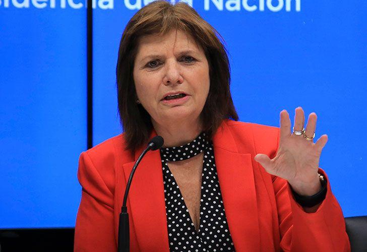 Ministra de seguridad Patricia Bullrich