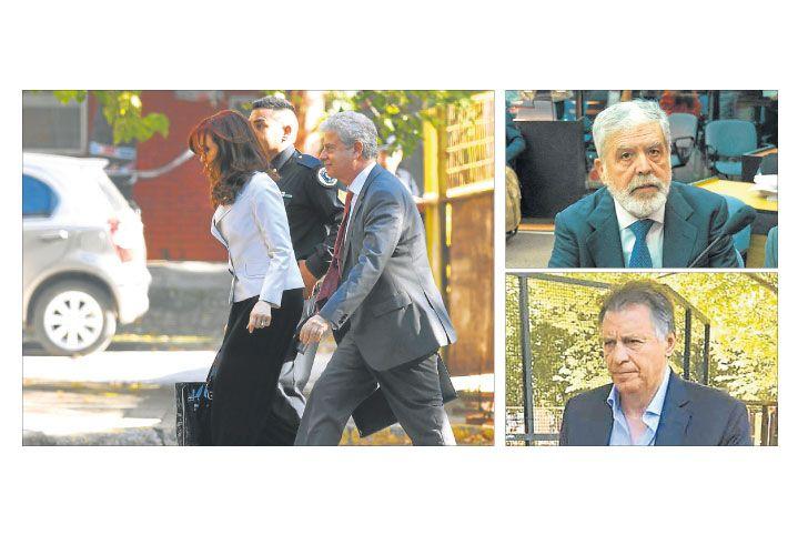 Complicados. Cristina Kirchner, De Vido y Cristóbal López fueron tres pesos pesados que quedaron bajo investigación judicial. La senadora se amparó en sus fueros.