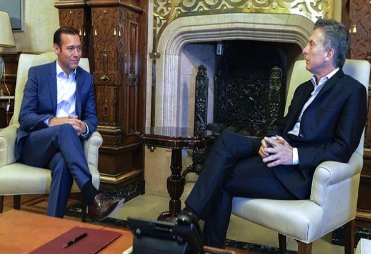 El Presidente, Mauricio Macri, junto al gobernador Omar Gutiérrez.
