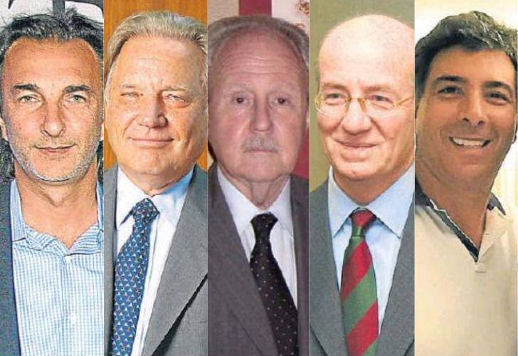 Angelo Calcaterra, Aldo Roggio, Carlos Wagner, Paolo Rocca y Guillermo Contreras