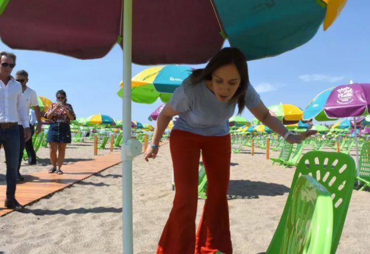 Las playas que inauguró la gobernadora Vidal arrancaron el año con una gran afluencia de público.