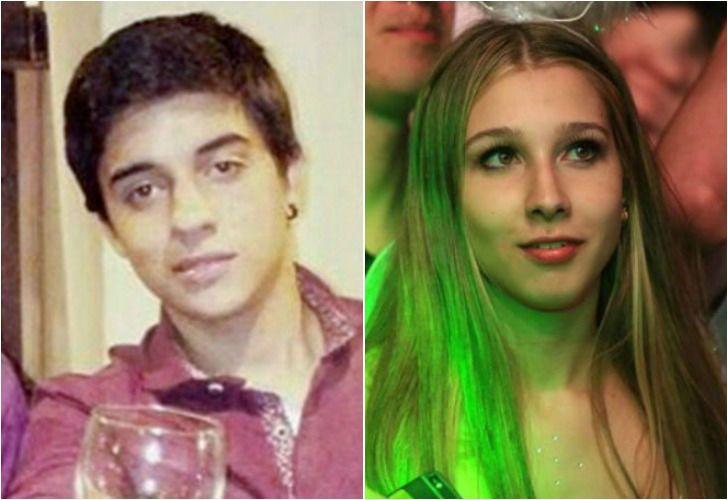 Izquierda. Fernando Pastorizzo. Derecha. Nahir Galarza, quien se encuentra detenida luego del crimen del joven.