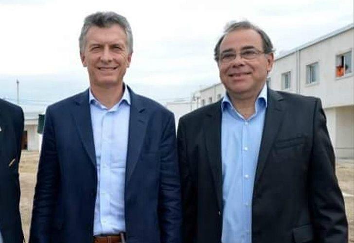 El intendente de Cambiemos de la capital correntina, Eduardo Tassano, junto a Macri.