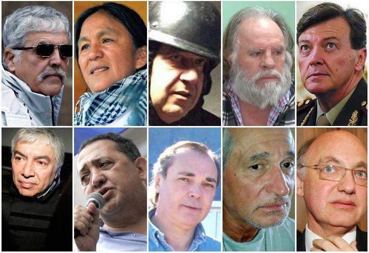 Los 10 funcionarios K detenidos con problemas de salud.