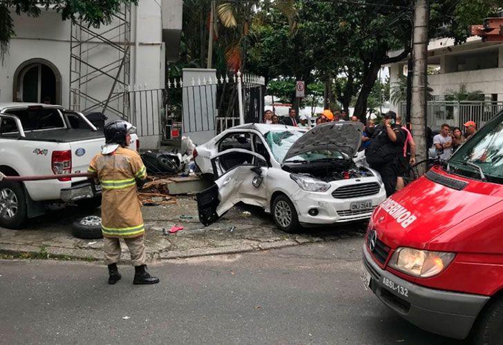 Dos argentinos murieron en un choque en Río de Janeiro