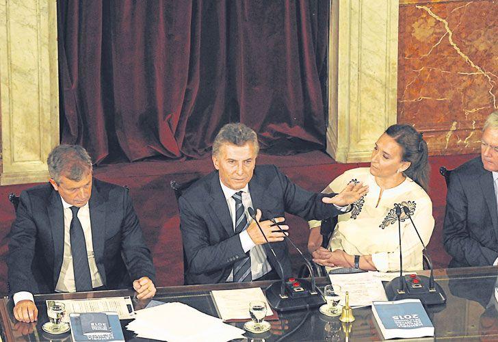 Impulso. En la inauguración de las sesiones ordinarias del Congreso, Macri reclamará la aprobación del proyecto, en el que trabajan el ministro Garavano y Ricardo Lorenzetti.