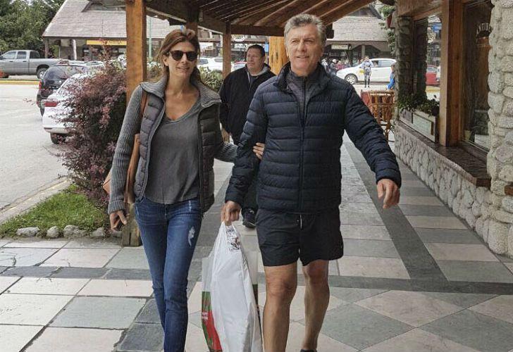 Mauricio Macri y su esposa Juliana Awada en Villa La Angostura.