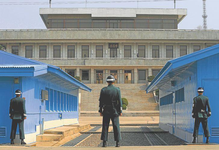 Escenario. Los negociadores se reunirán en Panmunjom, un enclave localizado en el paralelo 38, la frontera que divide Corea del Sur y Corea del Norte.