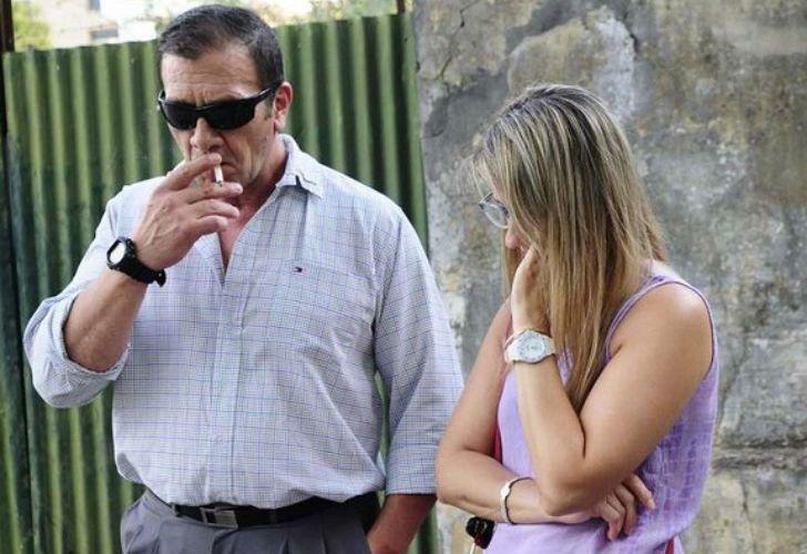 Marcelo Galarza y su esposa, la madre de Nahir.