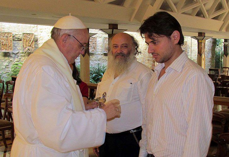 El Papa Francisco junto a Juan Grabois