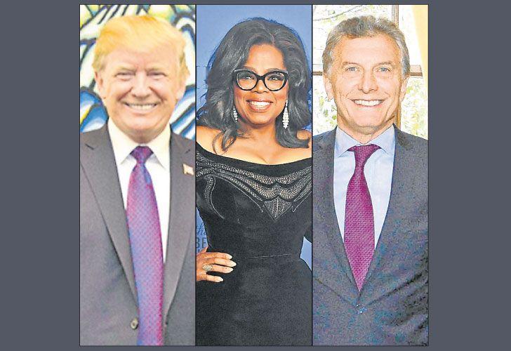 FAMA del entretenimiento: Trump, Oprah y Macri.