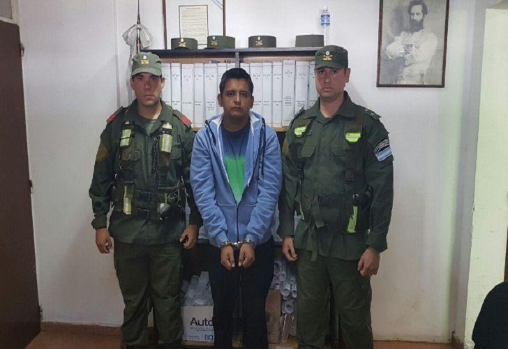 Sebastián Canale al momento de su detención.