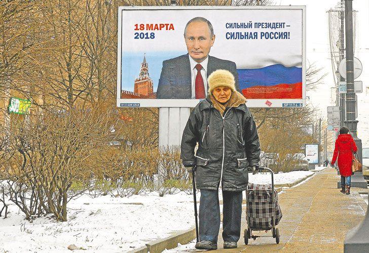 Poderoso. El presidente Putin va por la re-reelección en Rusia.