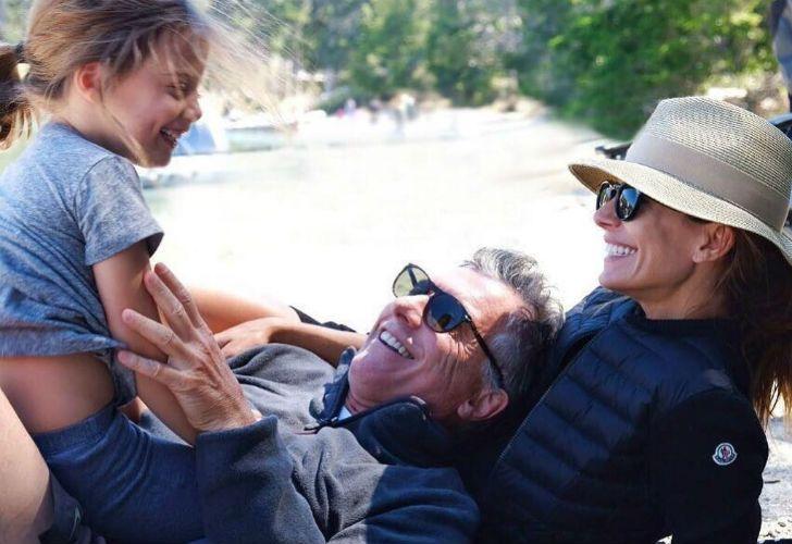 RELAX. Una postal de sus vacaciones, con Antonia y Juliana.