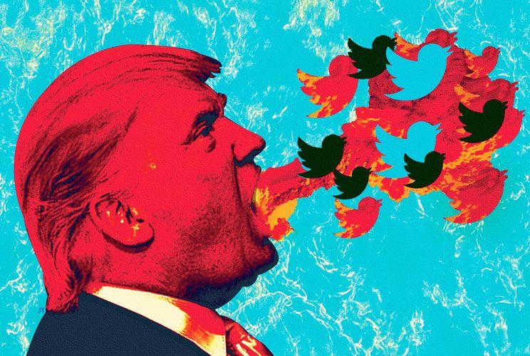 Mofas. La prensa y los programas de humor, como Saturday Night Live, han sido impiadosos con el excéntrico Trump.