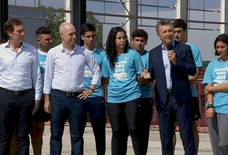Mauricio Macri en el acto de Villa Soldati