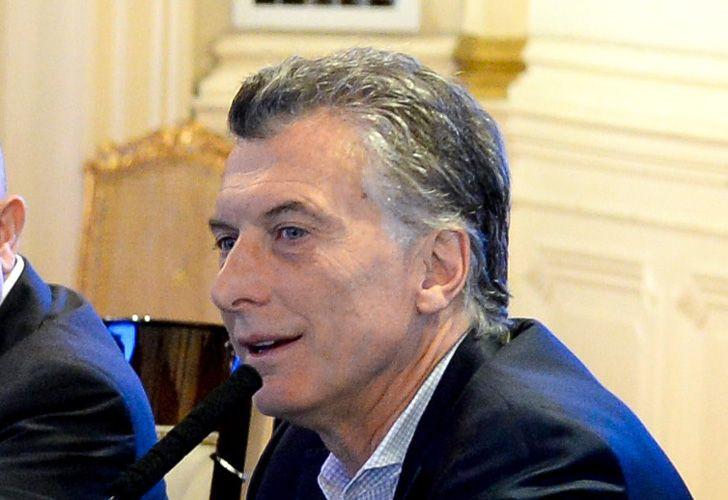 El presidente Mauricio Macri, en Casa Rosada