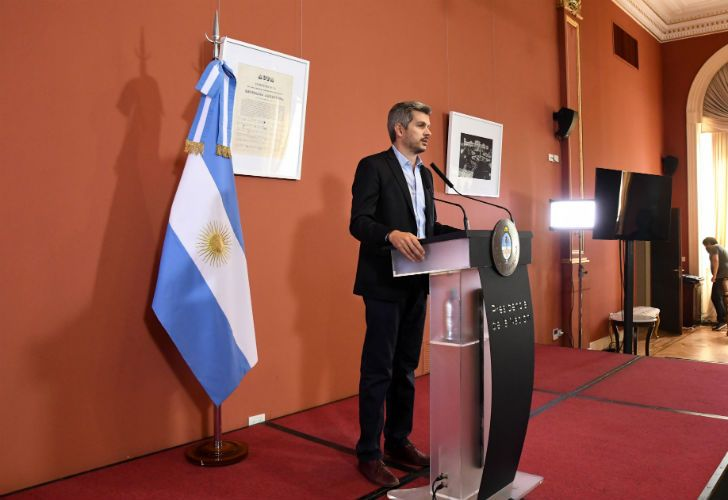 El jefe de Gabinete, Marcos Peña.