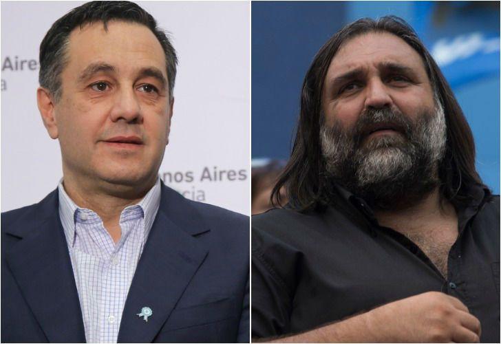 Izquierda. El ministro de Educación, Alejandro Finocchiaro. Derecha. El dirigente de SUTEBA, Roberto Baradel.