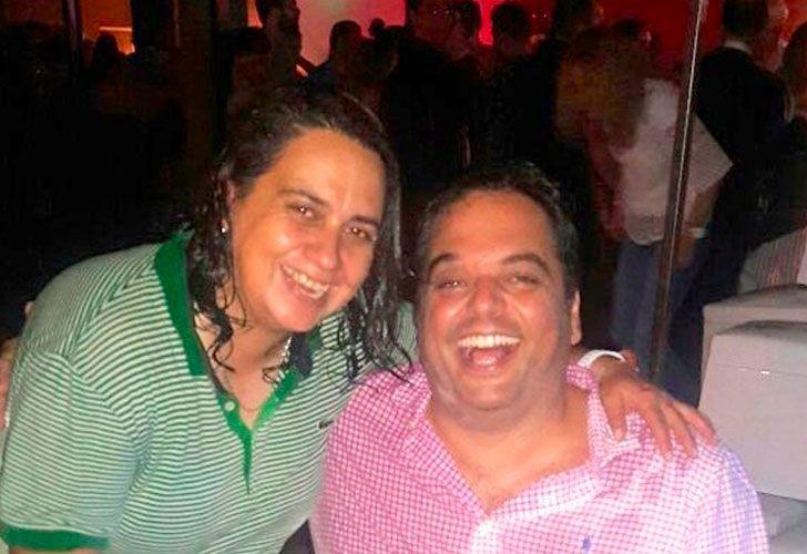 Jorge Triaca junto a su empleada.