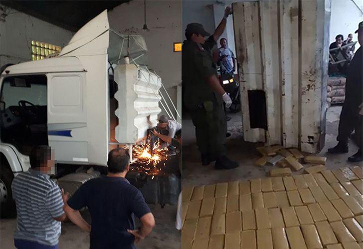 Encontraron 270 kilos de Marihuana ocultos en el tanque de combustible auxiliar del camión