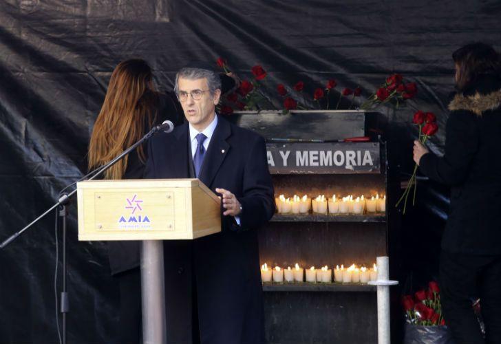 El presidente de la AMIA, Agustín Zbar.