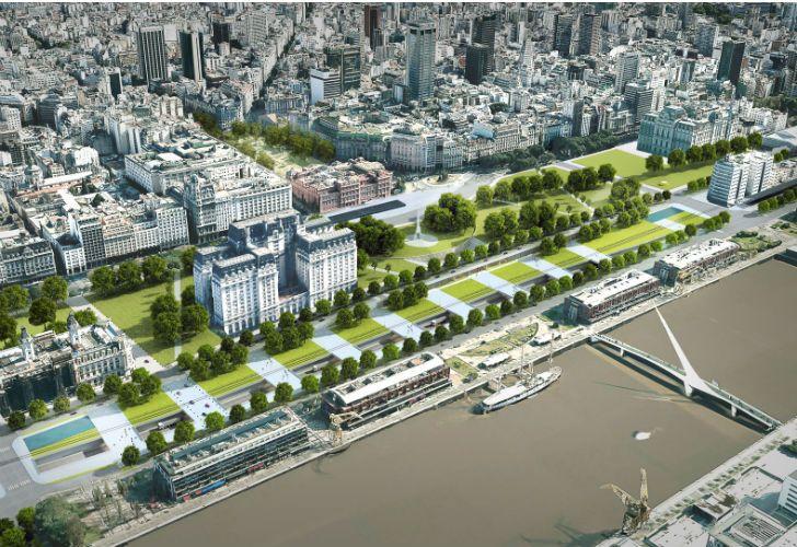 El Gobierno porteño pretende agilizar el tránsito entre el microcentro y Puerto Madero.