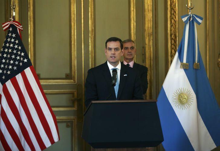 El encargado de negocios de la embajada de Estados Unidos en la Argentina, Tom Cooney.
