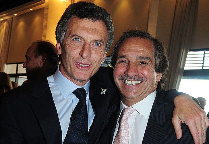 Mauricio Macri junto a Nicolás Caputo