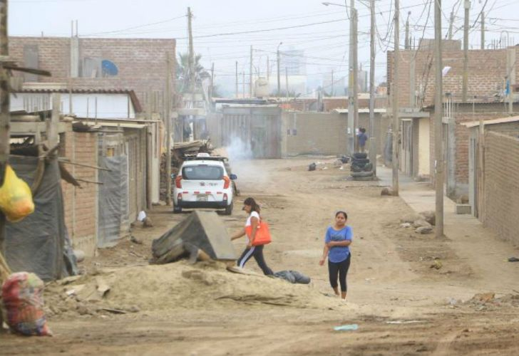 El papa Francisco visita el barrio Buenos Aires, ubicado en una de las zonas más pobres de Perú.