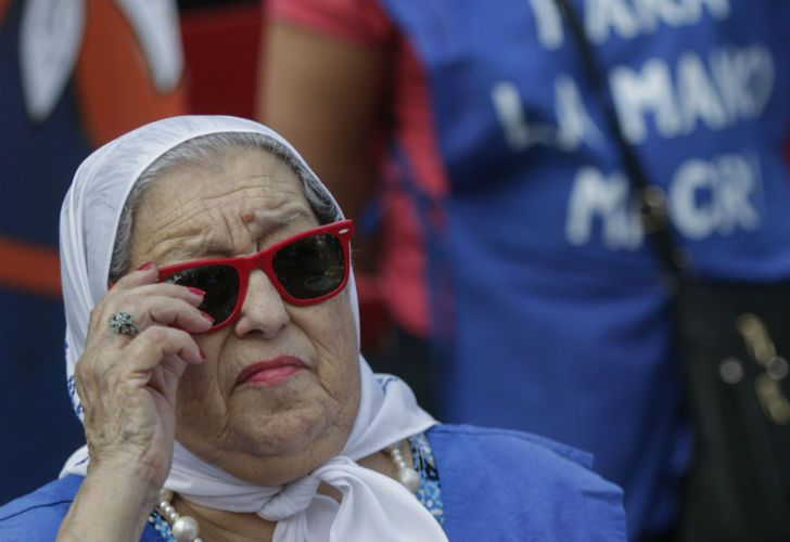 La titular de Madres de Plaza de Mayo, Hebe de Bonafini.