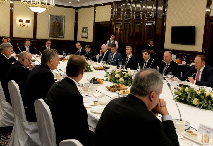 Macri se reunió con representantes de importantes empresas rusas.