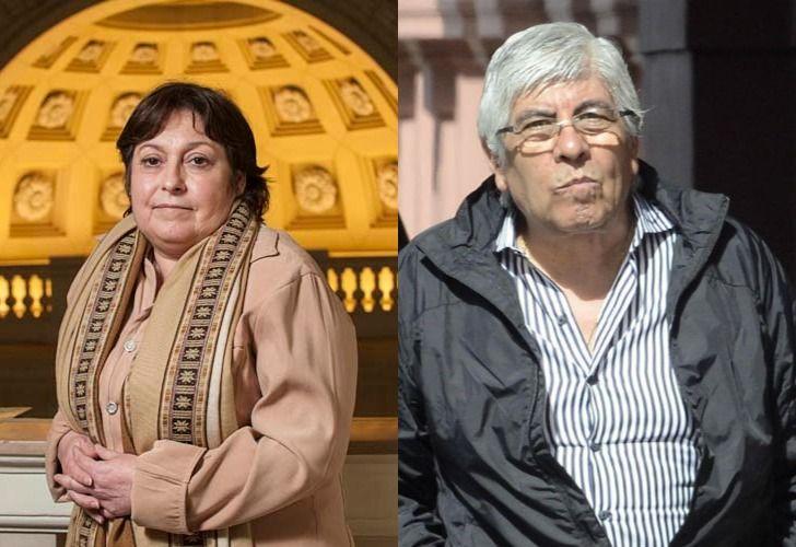 Graciela Ocaña y Hugo Moyano